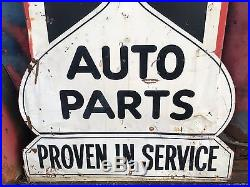 ViNtAgE VeRtiCaL MCQUAY-NORRIS TIME TESTED AUTO PARTS Sign Gas Oil Car Truck OLD