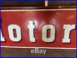 VinTagE MOTOROLA SST Sign Radio TV Home Car EMBOSSED Auto AnTiQuE Display OLD