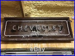 VinTage Original CHEVROLET Chevy Truck Pickup NEON TAILGATE Sign gas oil GM Van
