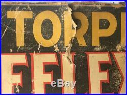Vintage 1918 REFLEX TORPEDO SPARK PLUG SIGN IOLA CAR SHOW WI AUTOMOTIVE CAR