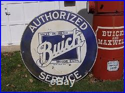 Vintage 1920/30's Authorized Buick Valve In Head Porcelain Sign