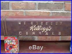Vintage. 1920's. Original. Train. Service. Car. Kelloggs. Cereal. Rack
