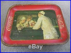 Vintage 1927 Soda Jerk Car Original Coca Cola Coke Tray