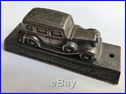 Vintage 1936 Chevy Chevrolet Suburban Truck Display Model Advertising Sign
