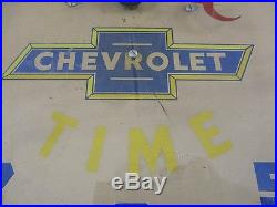 Vintage 1940s 50s Chevrolet Advertising Neon Clock Car Dealership FREE US SHIP