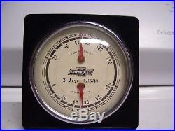 Vintage 1949 original GM CHEVROLET promo thermometer gauge humidity dealer 1948