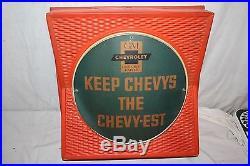 Vintage 1950's GM Chevrolet Genuine Car Parts Gas Oil 18 Lighted SignWorks