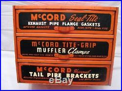 Vintage 1950s McCord Exhaust Parts Cabinet Garage Shop Display Case Automotive