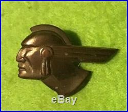 Vintage 1950s PONTIAC Indian Head Emblem Badge Button Brass