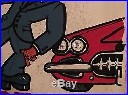 Vintage 1960's Chevrolet Chevy Corvette Parts Sign Custom Period Huge Garage