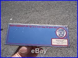 Vintage 1960' s Ford dealer Vanity visor mirror gas oil advertising promo drive