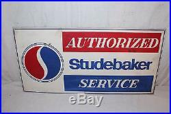 Vintage 1960's Studebaker Service Car Dealership Gas Oil 24 Metal Sign