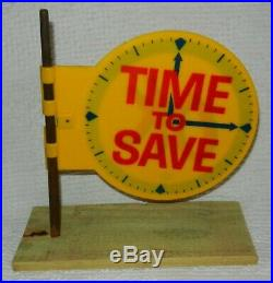 Vintage 1960s OK Chevrolet Chevy Time To Save Advertising Antenna Topper Dealer