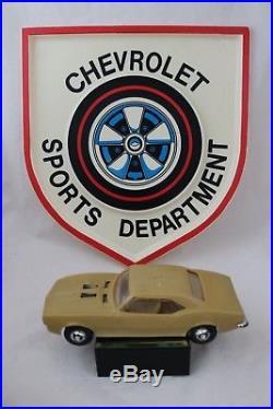 Vintage 1968-69 Chevrolet Sports Department Dealer Sign Camaro Redline