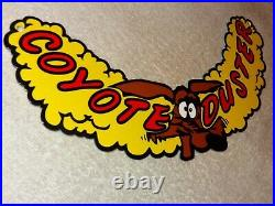 Vintage 1969 Plymouth Road Runner Coyote Duster 12 Metal Gasoline Oil Sign Wile