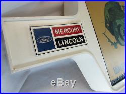 Vintage 1974 Ford Lincoln Mercury lighted brake service dealer shop sign light