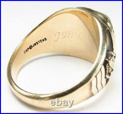 Vintage 1980s Oldsmobile Auto Jostens 10K Gold Diamond Service Award Ring Sz 12