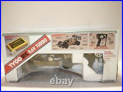 Vintage 1990 TYCO R/C 9.6V Twin Turbo Miller Indy Car Beer Advertisement NEW