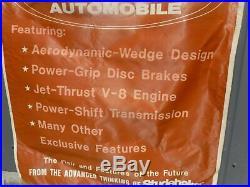 Vintage 63 64 Studebaker Avanti Dealership Show Room Sales Banner Flag