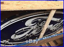 Vintage 8ft Ford Porcelain Neon Sign Bullnose RARE Gas Oil Chevy Dodge
