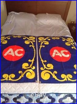 Vintage AC Sign Banner Spark plug Battery Automotive Car Advertising Times 2