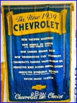 Vintage Advertising Collectible X-large Chevrolet Dealership antique Banner 1939