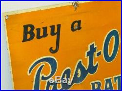 Vintage Advertising Prest O Lite Battery, Car gas Oil, Original