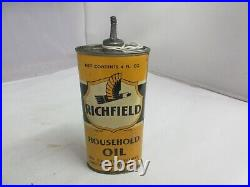 Vintage Advertising Richfield Handy Home Oiler Oil Auto Tin Can A-13