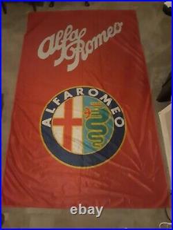 Vintage'Alfa Romeo' 5'x8' Banner Sign Fahnen-Herold