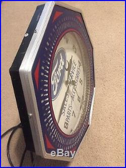 Vintage Antique FORD Sales &Service Parts and Accessories Neon Advertising Clock