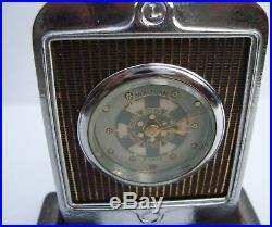 Vintage Antique Lincoln Motor Car Radiator Executive Waltham Desk Clock RARE