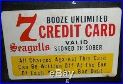 Vintage Antique Old NOVELTY CREDIT CARD DISPLAY HOT RAT ROD NOS Chevrolet Ford