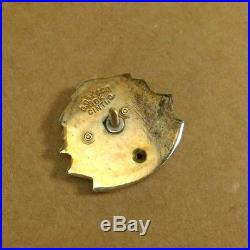 Vintage Antique PONTIAC MASTER SALESMAN Award 10K Gold Single Diamond Lapel Pin