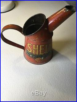 Vintage / Antique Shell 1pint Oil Jug Pourer Dispenser GR 264/35 Goodwood