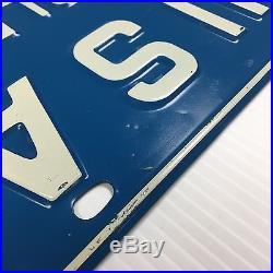 Vintage Blue Chevrolet 1 USA Original Dealer License Plate 1-USA 1 U. S. A