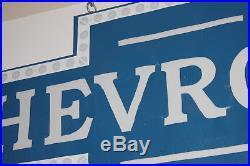 Vintage Blue Chevrolet Sign