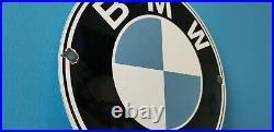 Vintage Bmw Porcelain Gas Automobile Service Station Dealership Sales Sign