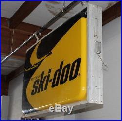 Vintage Bombardier Ski- Doo Light Up Store Display Sign Snowmobiles Snow Car