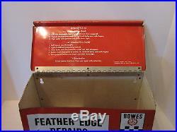 Vintage Bowes Tire Repair Display Sign Car Motorcycle Bicycle Gas Station