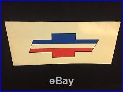 Vintage Bowtie Chevrolet Dealership Hung Sign Metal Car Dealer Truck Sales