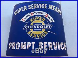 Vintage CHEVROLET Lighted Sign Super Service Super Service Means Prompt Service