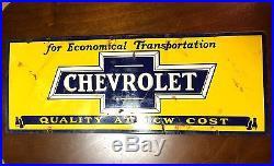 Vintage CHEVROLET Porcelain Sign High Quality Salvaged 22 length
