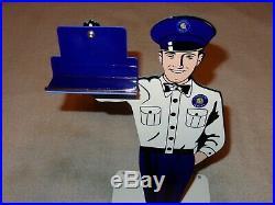 Vintage Cadillac Car Service 12 Metal Business Card Holder Gasoline & Oil Sign