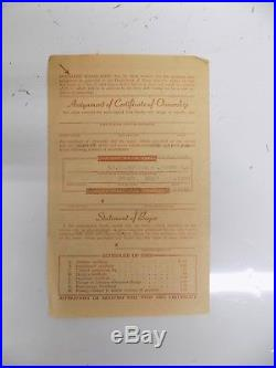 Vintage Car Title 1936 36 Chevy Coupe Historical Document State of New Jersey