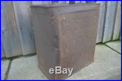 Vintage Carburine Motor Spirit 2 Two Gallon Petrol Can with Brass Cap