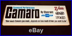 Vintage Chevrolet Camaro Sign. Chevy, Chevelle, Corvette