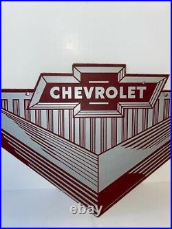 Vintage Chevrolet Dealer Sign Original Super Rare Masonite 1930s to 1950s
