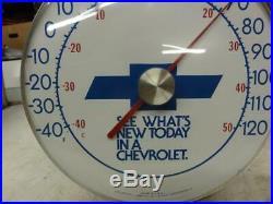 Vintage Chevrolet Dealer Thermometer Dwight Shank Larned Kansas Sign