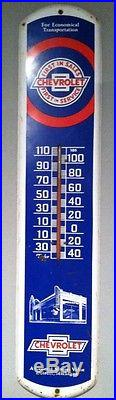 Vintage Chevrolet Dealership Wall Thermometer by Taylor