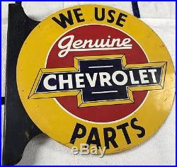 Vintage Chevrolet Flange Sign